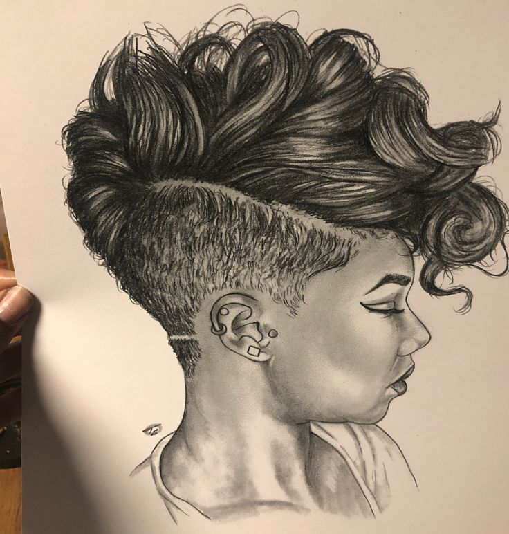 Dope hair drawing by @nuyu.art - https://blackhairinformation.com/uncategorized/dope-hair-drawing-nuyu-art/