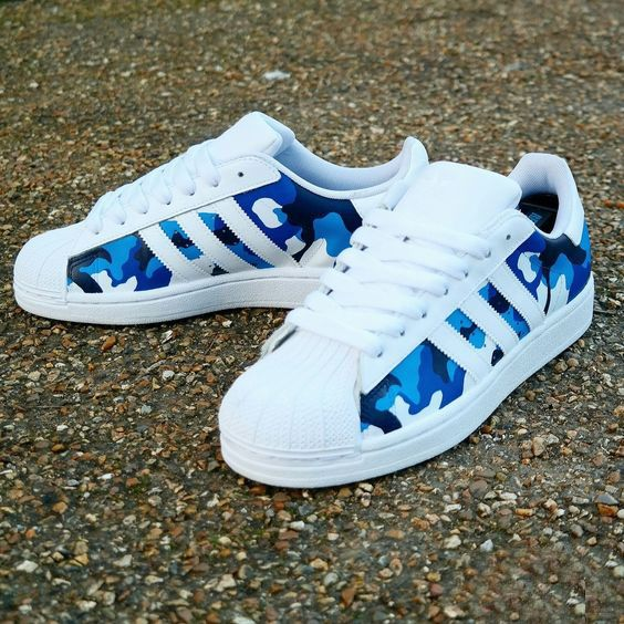 Adidas Superstar Camo Navy White Trainer