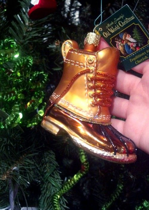 Bean Boot ornament!