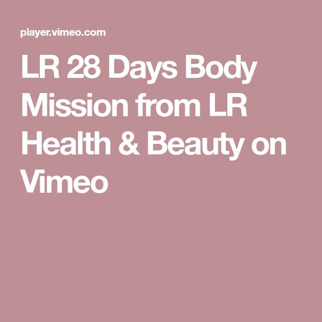 LR 28 Days Body Mission from LR Health & Beauty on Vimeo