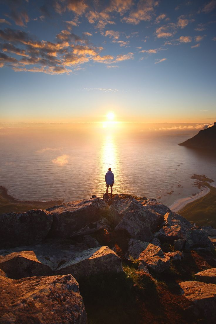 In The Light Of The Midnight Sun  Reine, Lofoten Islands, Norway <