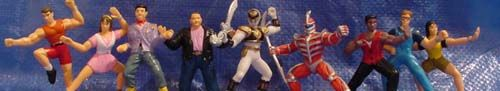 Mighty Morphin Power Rangers - PVC Figurines Series Two - Jason, Kimberly, Skull, Bulk, White Ranger, Lord Zedd, Zack, Billy, Trini - 1994 - 2.25