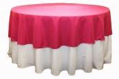 "Polyester 90"" Round Tablecloth - Fuchsia"