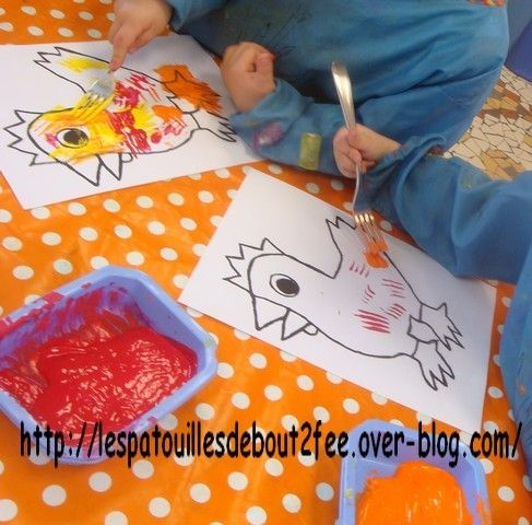peinture à la fourchette