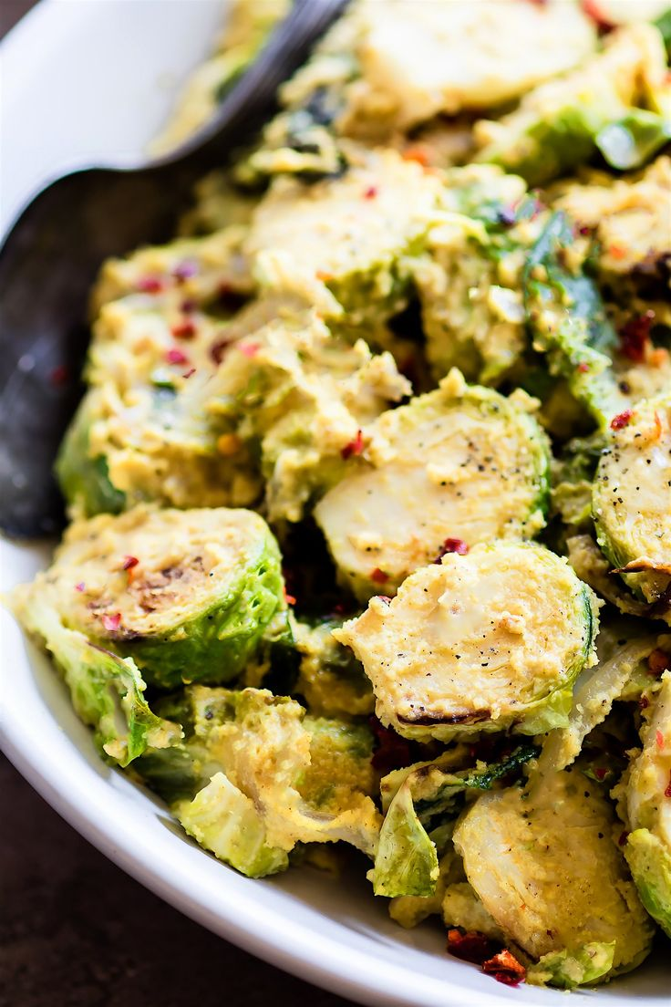 Creamy Mustard Brussels Sprouts Superfood Salad (Paleo, Vegan)