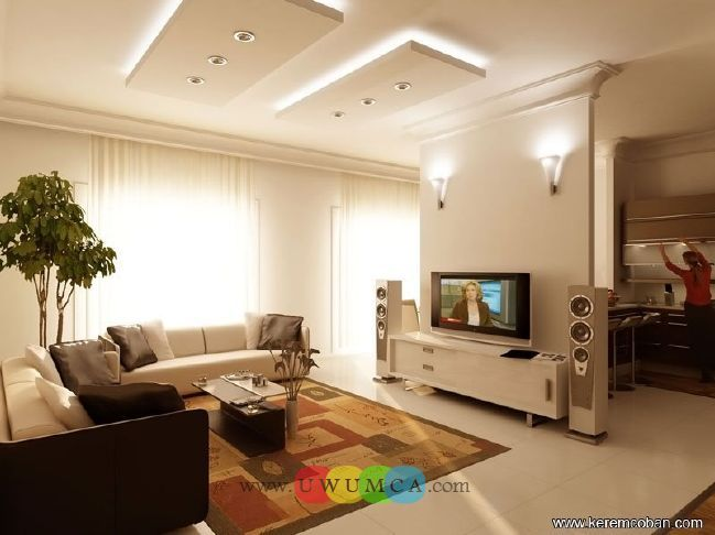 Living Room:Decorating Brazilian Living Room And Lighting With Sofa Furniture Coffe Table Chairs Rug Design Decor For Small Modern TV Wall Units 17 In White Color Luxury Living Room Decor of an Art Collector by Gisele Taranto