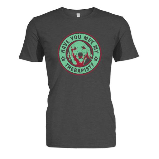 In honor of National Therapy Animal Day April 30, these shirts are available for a limited time only! Proceeds support Pet Partners therapy animal teams who are changing lives #goldenretriever