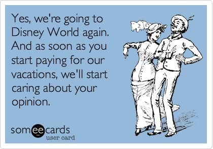 Yes, I am going to Disney World again!
