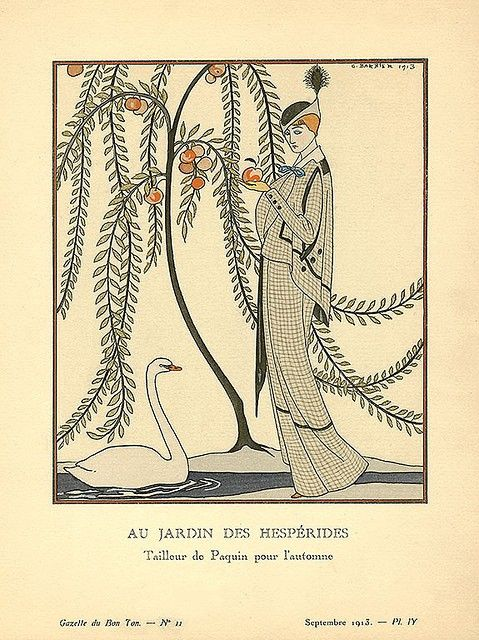 /: Fashionable, Garden, Fashion Illustration, Good, George Barber, Art Deco, Garden