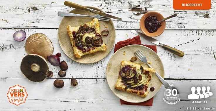 Cranberrytaartje met kastanjes en portobello #lekkerlidl #kiesherfst