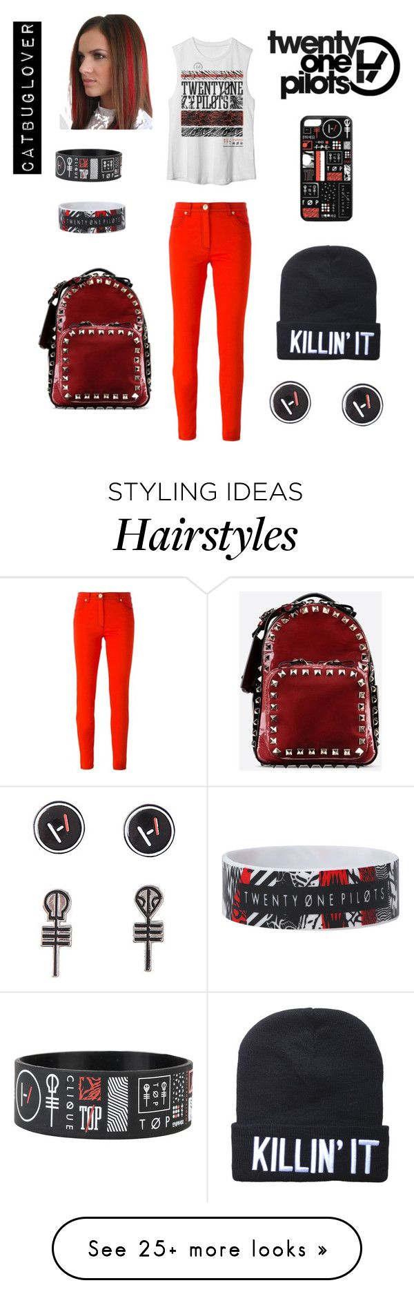 """T.ø.p concert"" by catbuglover on Polyvore featuring Versace and Valentino"