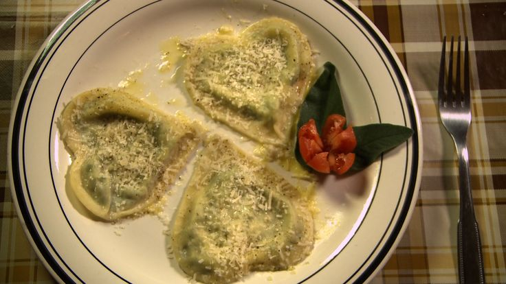 "Did you know that you can say ""I Love You"" with ravioli? Check out my Romantic Ravioli recipe on UDEMY. These are really delicious, and can easily be made from scratch."