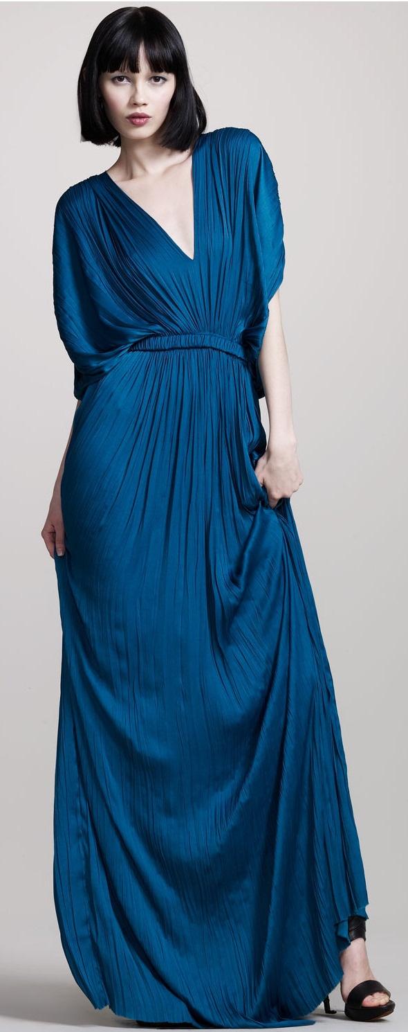 Lanvin- I love the way this drapes... I think I could make it for slightly less than the ticket price of $4,495 ;): Kimonos Dresses, Lanvin Blue, Pliss Kimonos, Pliss Gowns, Kimonos Gowns, Gowns Photographers, Lanvin Pliss, Lanvin Kimonos, Ticket Price
