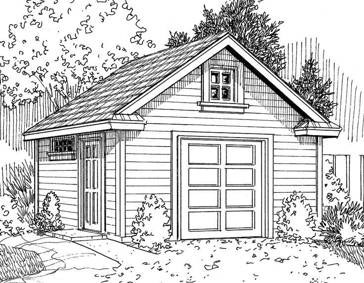 17 best images about shed garage on pinterest gardens for 4 door garage plans