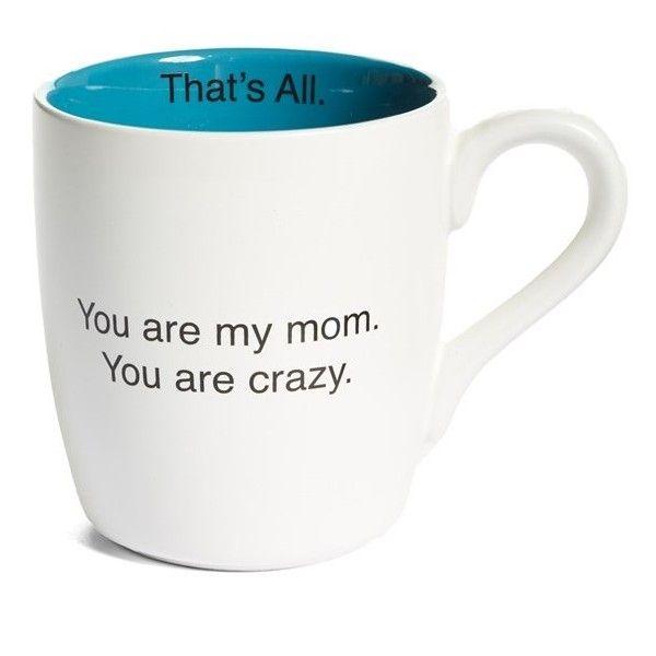 Santa Barbara Design 'You Are My Mom' Mug ($13) ❤ liked on Polyvore featuring home, kitchen & dining, drinkware, white, ceramic mug, santa claus mugs, santa mugs, white mugs and white ceramic mug