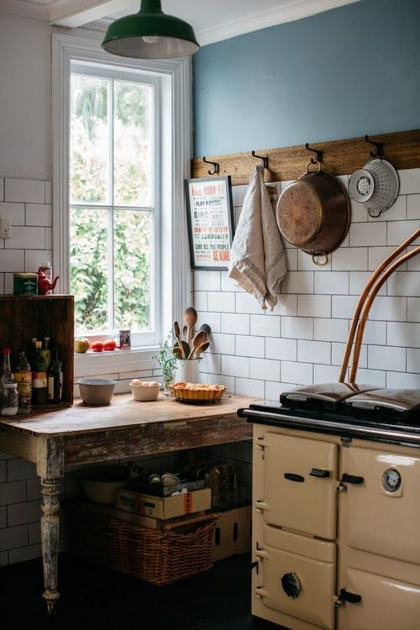 Best 25 subway tile kitchen ideas on pinterest subway for Duck egg blue kitchen island