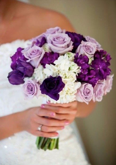 Buquê em lilás e roxo