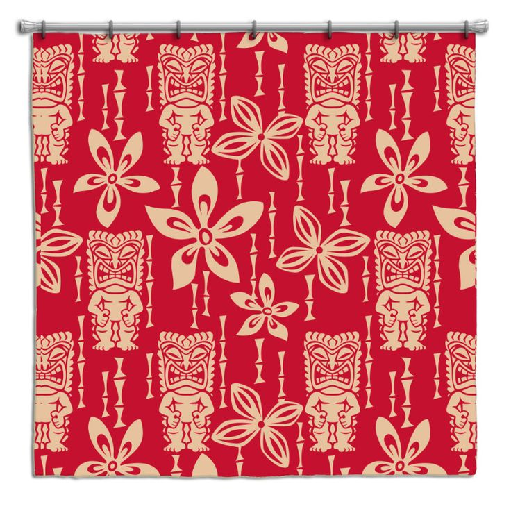 Vintage Tiki Gods Hawaiian Shower Curtain Bathroom Ideas