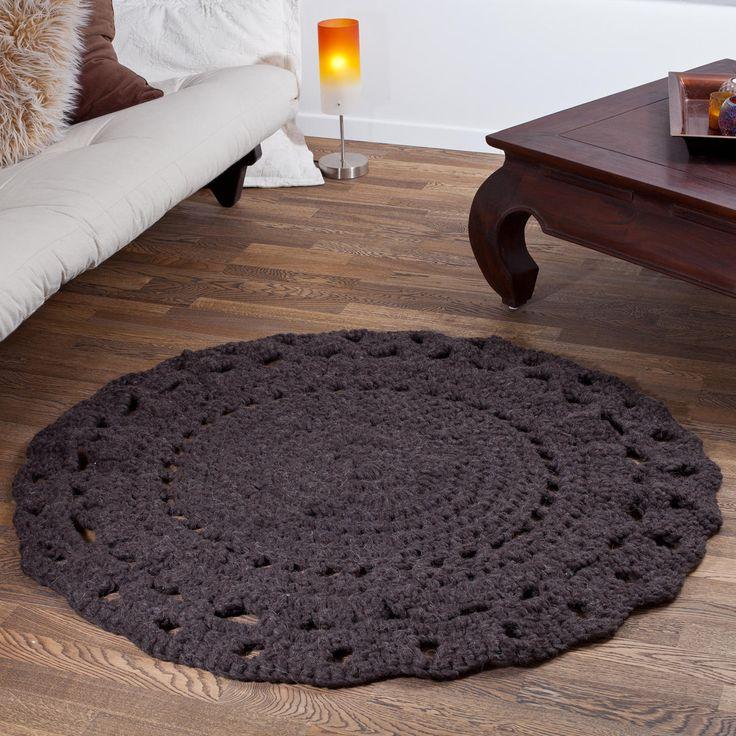 ber ideen zu gestrickter teppich auf pinterest. Black Bedroom Furniture Sets. Home Design Ideas