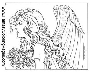 sad fairy coloring pages - photo#14
