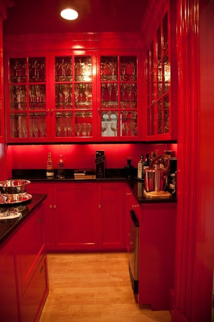 Cocinas Rojas on Pinterest  Red kitchen, Red cabinets and Kitchens