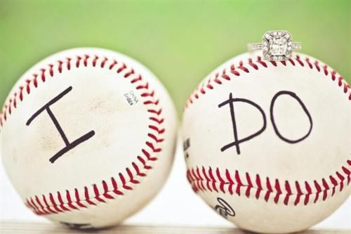 cute for baseball couple.