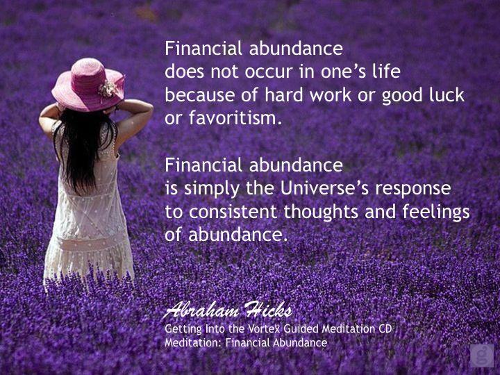 #AbrahamHicks #FinancialWellBeing #Response