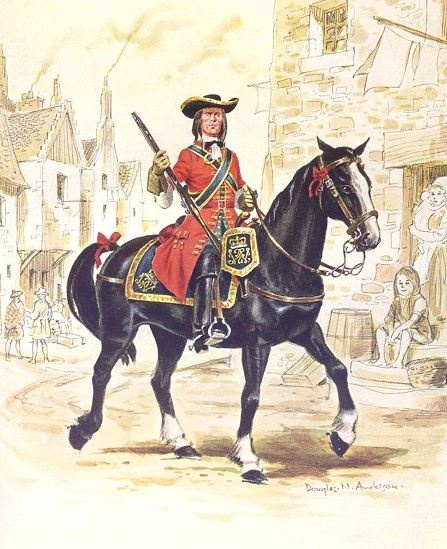 1st Scots Troop of Guards 1698. For more information on Scottish Uniforms click on the link below:-