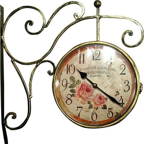 french shabby chic rose design station clock