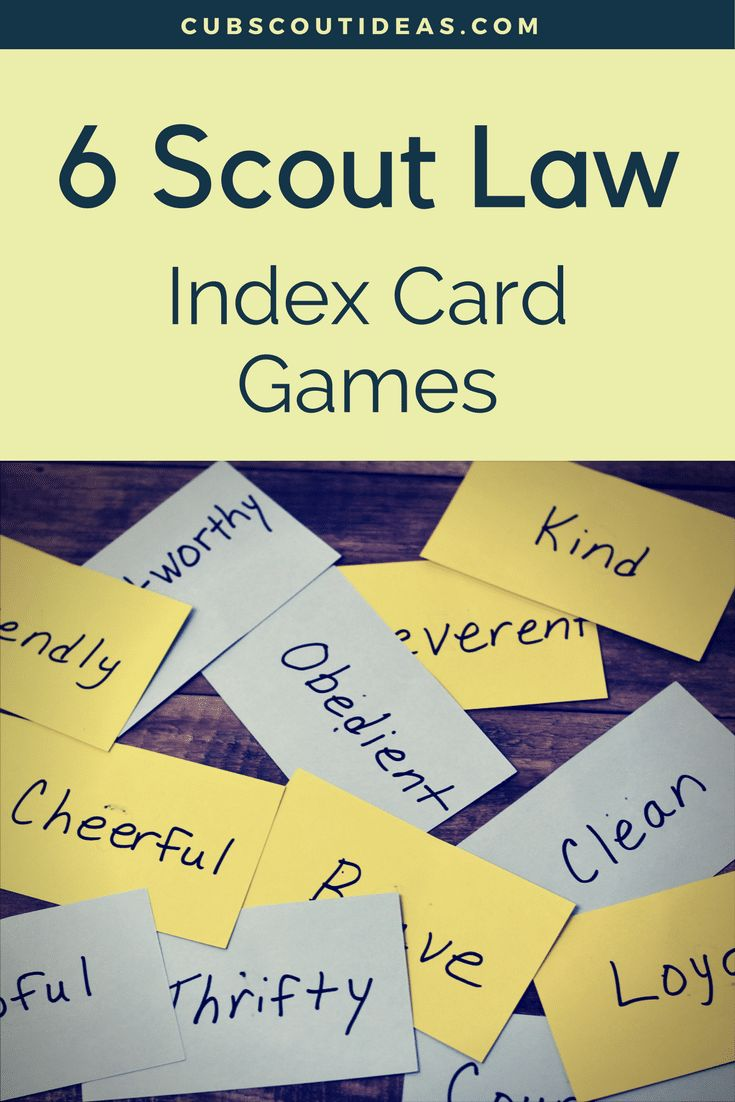 Learning the Boy Scout Oath and Law can be a little challenging for Cub Scouts. But these 6 fun Scout Law games are an easy way for them to practice the Law. Use these as gathering activities or during your Cub Scout den meetings. via @CubIdeas