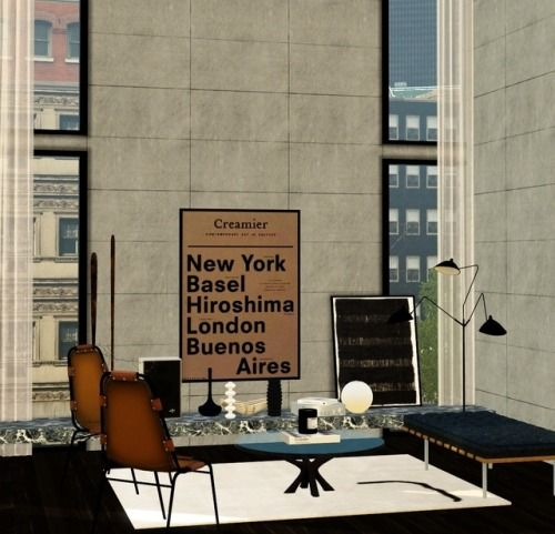 fake homes, from real inspiration VIA the sims 3