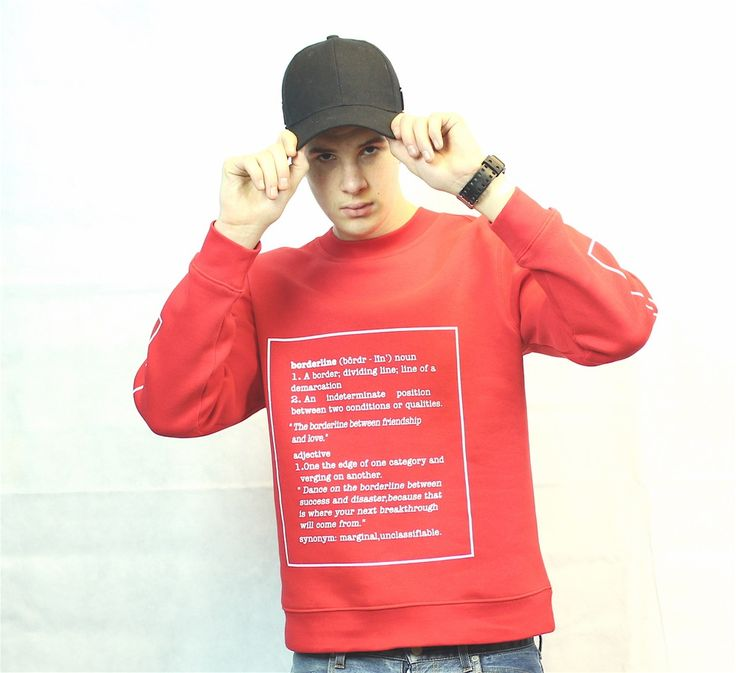 Image of Red framed definition Sweater