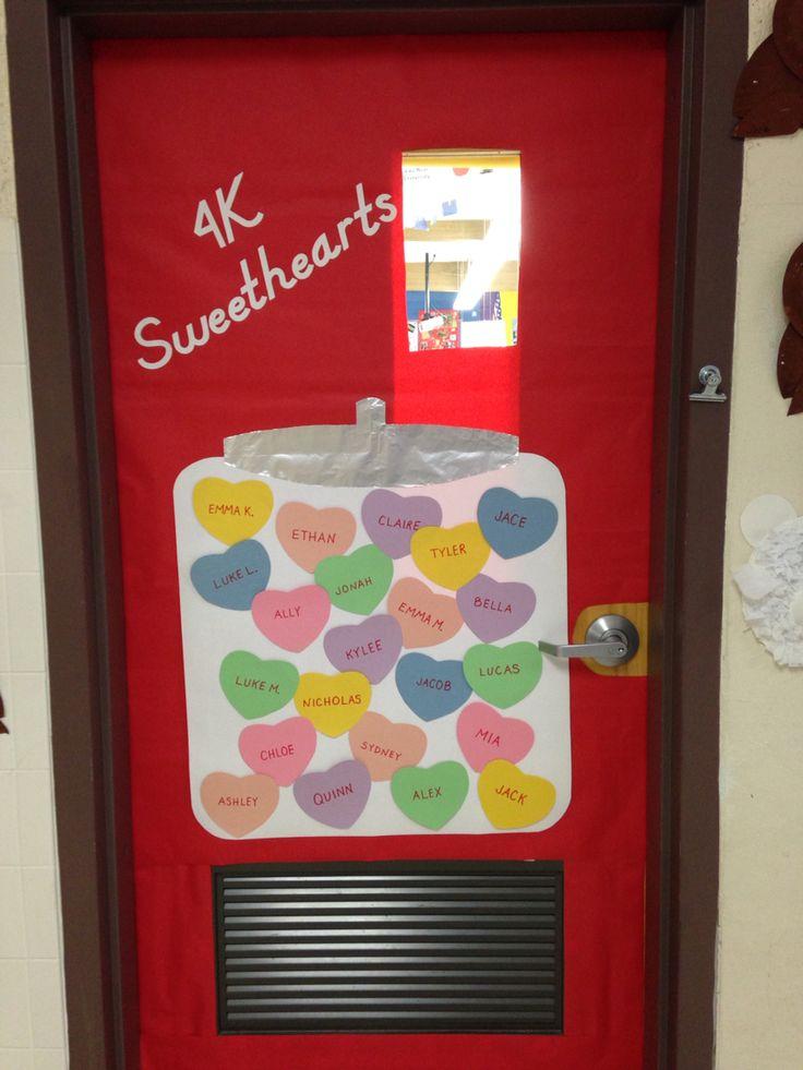 Valentine classroom door