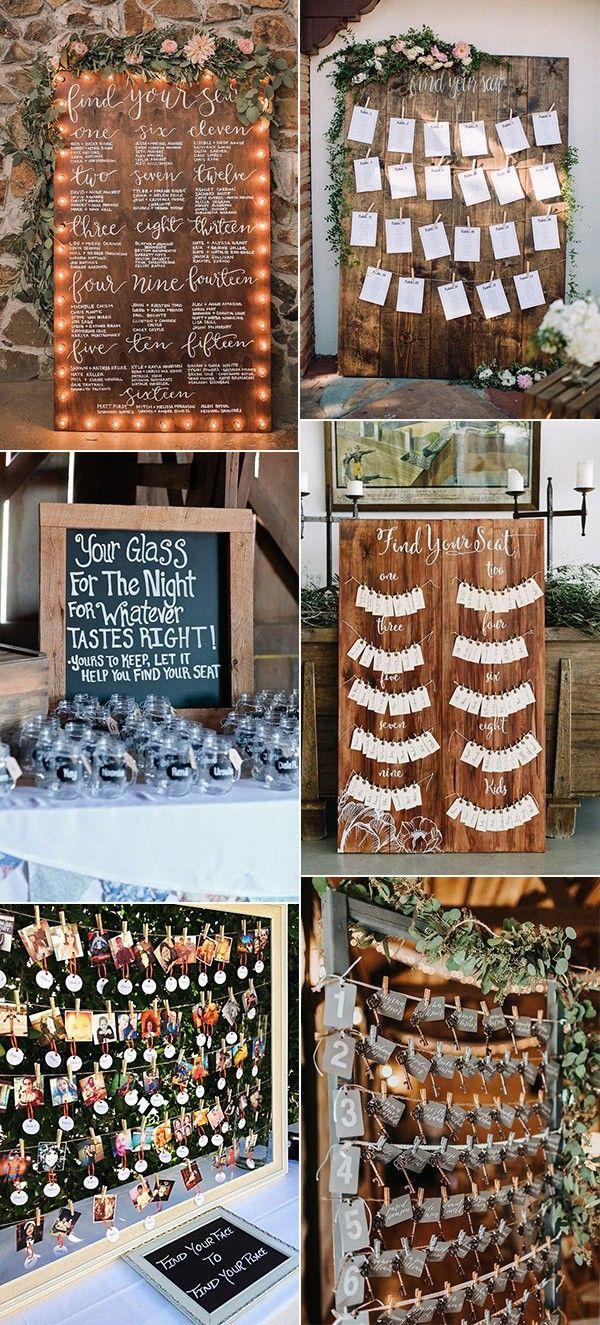 15 Trending Wedding Seating Chart Display Ideas For 2018 Emmalovesweddings Reception Seating Chart Seating Arrangement Wedding Rustic Seating Charts