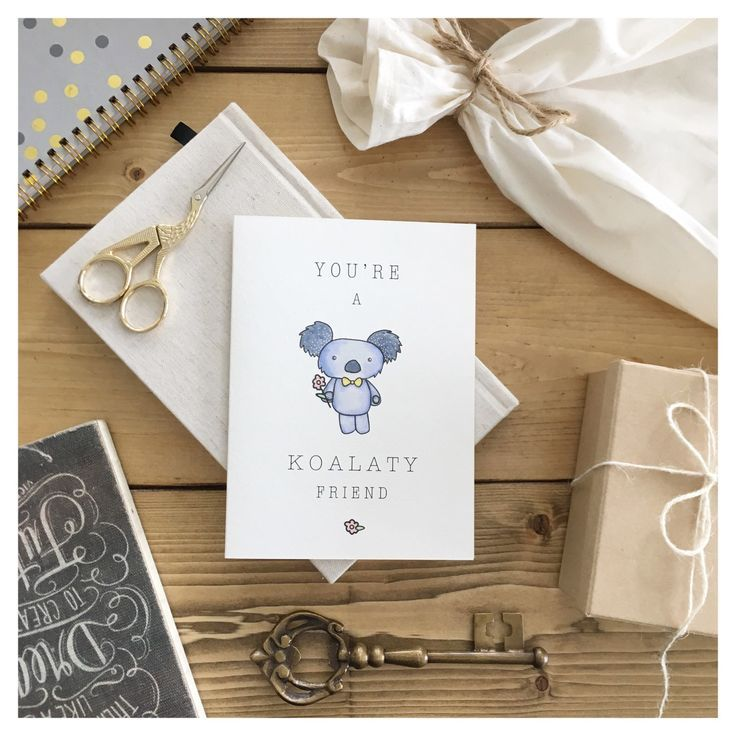 The new and improved koala card for the quality people in your life // Gift a laugh any day and for any reason with this friendly little bear 🐨💌