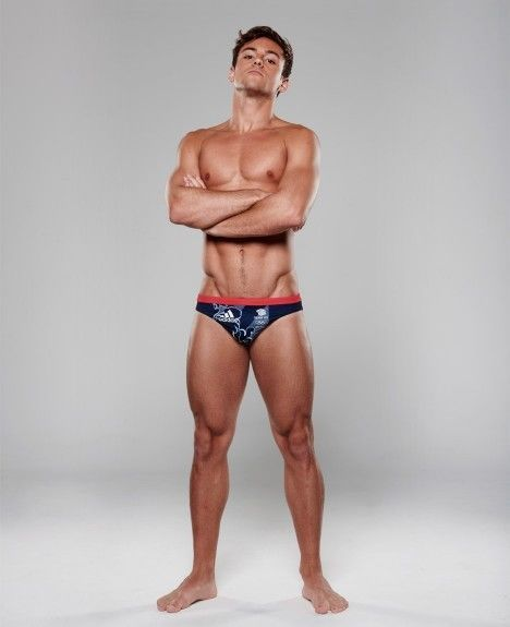 RARE adidas Team GB RIO Olympics swimsuit Tom Daley briefs trunks British Diving #adidas #Briefs