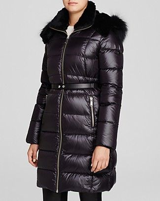 ANDREW MARC Tatiana Belted Luxe Down Coat. #andrewmarc #cloth #coat