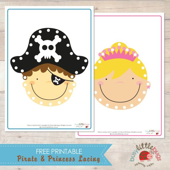 Printable lacing cards are great for plane trips. Use shoe laces and bright motifs on laminated card, like these Pirate and Princess Lacing Cards from Busy Little Bugs. These don't need a tray so are great for takeoff or landing.