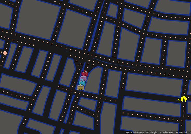 """Entérate Cali: El juego de """"Pacman""""  en Google Maps."""