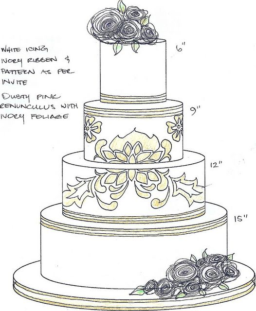 1000 images about wedding cake sketches on pinterest