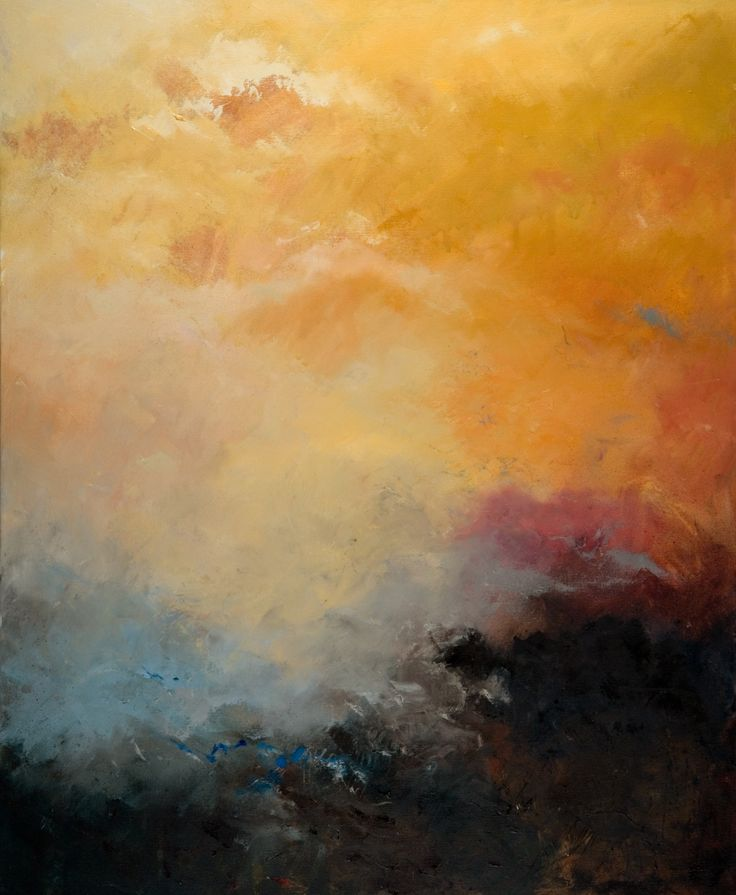 Cadmium yellow hue! A stormy landscape in Oil