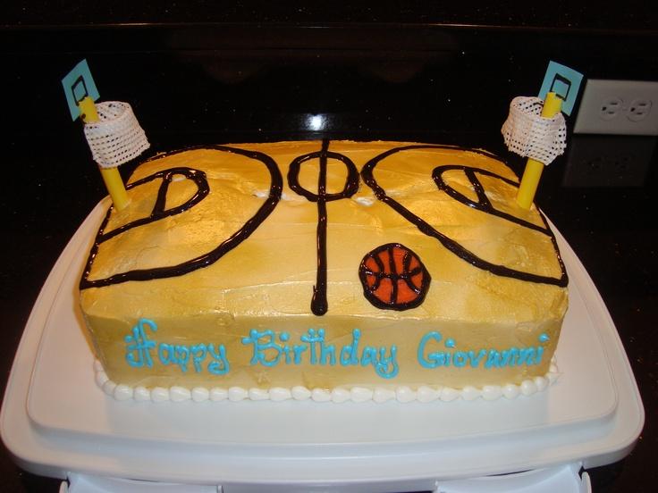 Pin Basketball Court Cake   Celebration Cakes Cake on ...