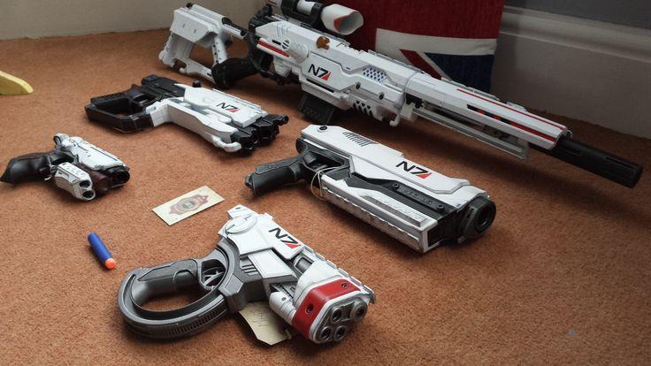 Mass Effect #Nerf gun family photo.