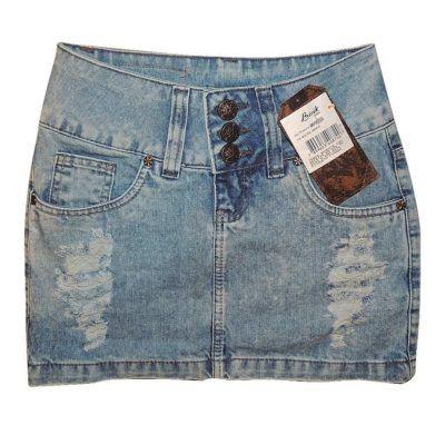 mini saias jeans Bivik