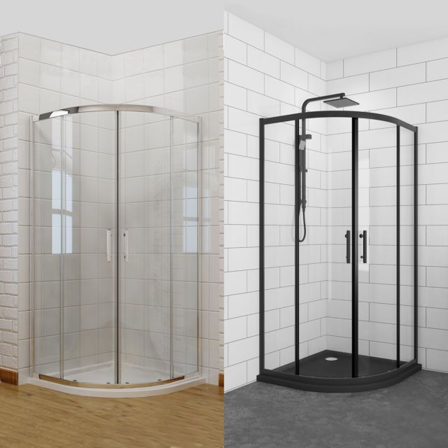 800 900 1000mm Quadrant Corner Sliding Shower Screen Toughen Glass Anticorrosion Ebay Shower Cubicles Corner Shower Bathroom Interior Design