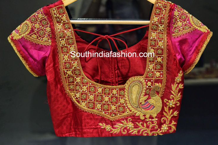 peacock_embroidery_blouse_for_silk_sarees.jpg (1296×864)                                                                                                                                                                                 More