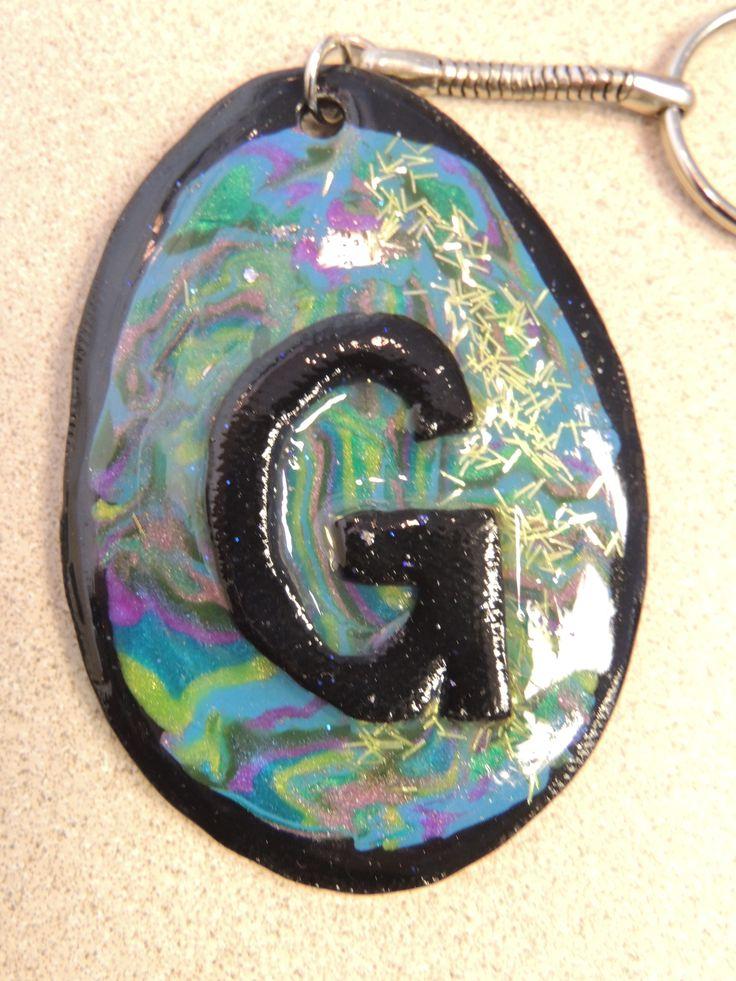 Custom Keychain (so much glitter <3 )