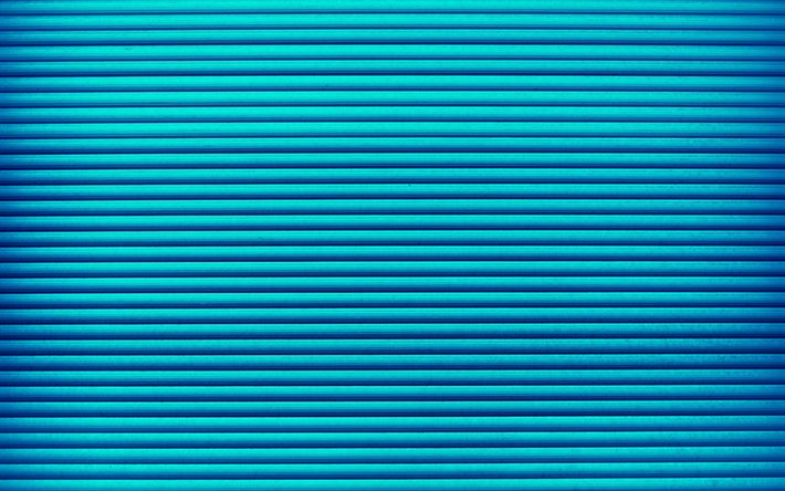 Download wallpapers blue lines, 4k, horizontal lines, strips, blue background