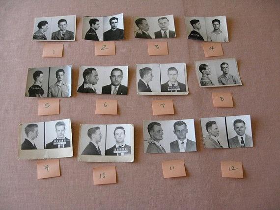 12 Chicago Police Department Criminal MUG SHOTS 1940s -50s Collection (via SherwoodsTreasures)