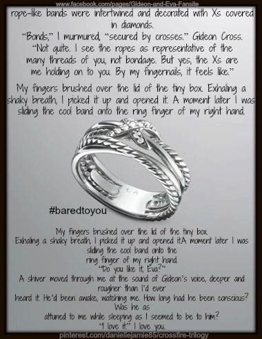 When Gideon gave Eva her Ring <3 #baredtoyou #crossfire